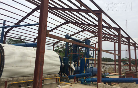 The Process of Recycling Tires into Oil-Pyrolysis Plant -